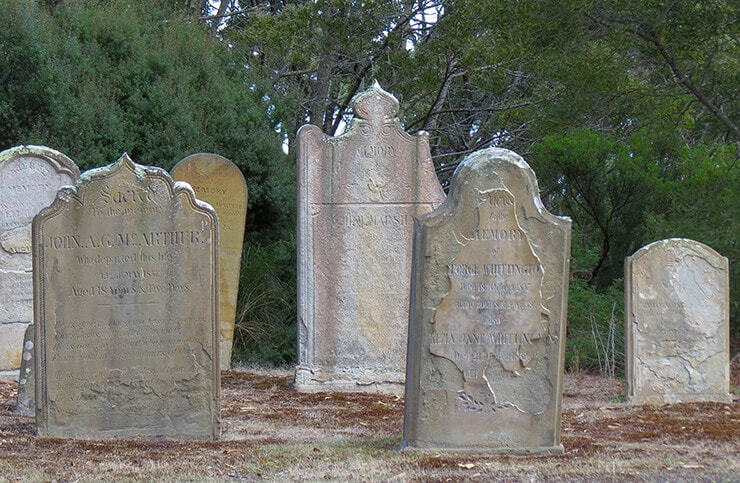 Port Arthur graves